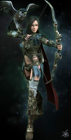 New fantasy art warrior women ranger ideas Fantasy Warrior, Fantasy Girl, Chica Fantasy, Fantasy Art Women, 3d Fantasy, Warrior Girl, Warrior Princess, Fantasy Artwork, Warrior Women