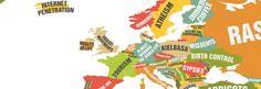 Een wereldkaart met uitblinkers