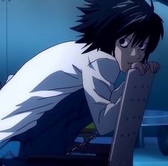 Death Note I, Death Note Fanart, Fanarts Anime, Anime Characters, Manga Anime, Me Me Me Anime, Anime Guys, L Icon, Death Note