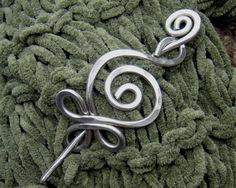 Celtic Budding Spiral Aluminum Shawl Pin / by nicholasandfelice, $ 18.00