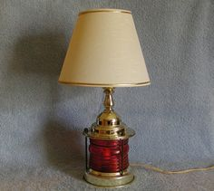 Accent Lamp  Nautical Theme  Up and Down Lamp by SandECollectibles