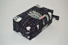 Handmade Unique Anatomical Skeleton Men's Toiletry by HoneyBagger