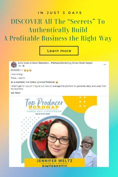 """DISCOVER All The """"Secrets"""" To Authentically Build A Profitable Business the Right Way In Just 3-Days! We aregiving away over $20,000 in free coaching to ALL ATTENDEES? 🤯 AND we're sending you a swag box full of goodies! What's working on social... RIGHT NOW Facebook... Instagram... Pinterest... TikTok... it can get confusing... especially since it. changes. all. the. dang. time. Learn exactly what you need to know right now to elegantly attract the right people to your business. Set Up Email, Facebook Instagram, Pinterest Marketing, Social Media Marketing, Make It Simple, Online Business, Need To Know, Budgeting, Improve Yourself"""
