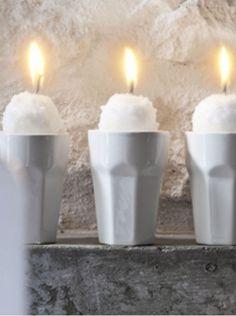 IKEA non parfumée Tea Light Bougies Noël Support or rouge Temps De Combustion 4 Heures