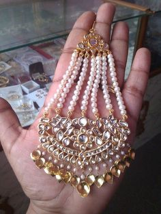 Gold Jewelry Simple, Gold Rings Jewelry, Head Jewelry, Stylish Jewelry, Jewelery, Pakistani Jewelry, Indian Wedding Jewelry, Indian Jewelry, Indian Bridal