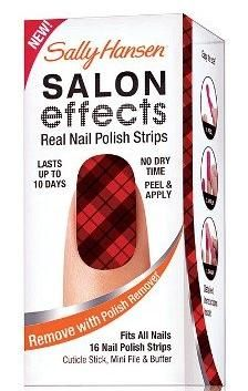 Sally Hansen Salon Effects nail strips in Plaid About You