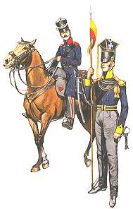 Left: Trooper, Neumark Landwehr Cavalry - Right: Trooper, 3rd Silesian Landwehr Cavalry