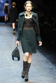 Dolce & Gabbana Fall 2010 Ready-to-Wear Fashion Show - Anastasia Kuznetsova