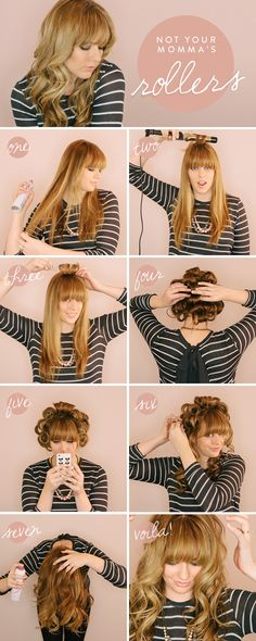 Not Your Momma's Rollers, perfect curl tutorial.