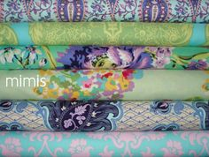 Amy Butler Fabric / Love Collection /  6 Fat Quarter by mimis, $16.00