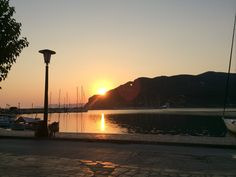 Skopelos harbour 6.45 In July