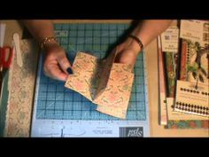 This video tutorial shows you step by step how to create 3 different styles of mini scrapbook albums using just one sheet of 12×12 double sided pattern paper.