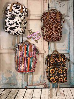SALE_Sunflower Aztec Leopard Cow Print Camo Cactus Diaper Bag Backpack, Travel Boho Cheetah Serape cheetah valentines day - Source by