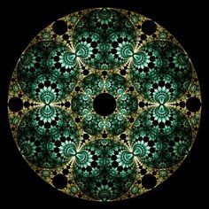 """Crop Circles"" - a Fractal Mobius Pattern by Ross Hilbert, via Fractal Science Kit"