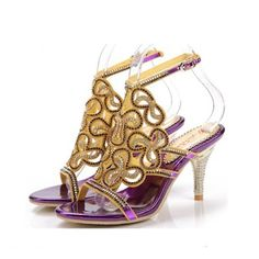 De mujer Sandalias Encaje Solo correa Tacón stilettos Cuero Zapatos