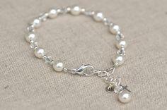 First Communion Bracelets Silver Cross Swarovski Elements