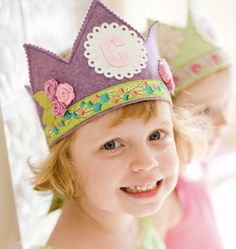 Personalized birthday crowns by Mosey on Etsy. The selection is unbelievable.