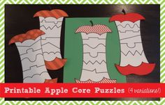 Apple Puzzle Preschool Printables - Pinned by @PediaStaff – Please Visit ht.ly/63sNtfor all our pediatric therapy pins