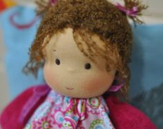 Bildergebnis für making a waldorf doll baby hair newborn