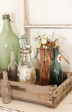 beautiful use of bottles