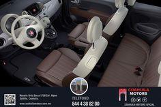 Fiat 500 con Aire acondicionado automático con filtro anti-polen. Solicita tu prueba de manejo completamente gratis. ¡Llamanos al 4-38-82-00!