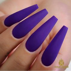 Trendy Nails Purple Matte Shape - Mermaid Nails Ideas/ Mermaid Effect DIY/ Mermaid Tail Nails/ Paznokcie Hybrydowe z Efektem Syrenki/ - Matte Purple Nails, Purple Manicure, Purple Nail Art, Purple Nail Designs, New Nail Designs, Dark Nails, Red Nails, Hair And Nails, Bling Nails