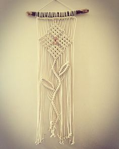 Keeping the #flower theme this little number will be available for sale.  #macrame #cotton #homedecor #macramewallhanging #wallart #goldcoast #coolangatta #handmade #homedecor