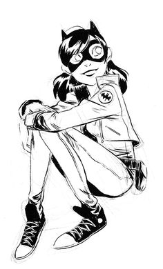 """jigokuen: """" Doing some super heroine redesigns! I dunno, but I'm liking the idea that maybe its not all just spandex everywhere! Batgirl and Wonder Woman are up. Batwoman, Dc Batgirl, Character Design References, Character Art, Character Ideas, Character Illustration, Illustration Art, Nananana Batman, Timberwolf"""