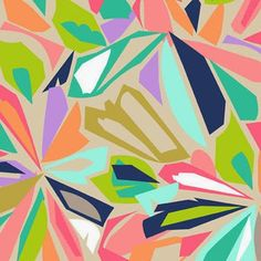 LYLOVE STUDIO - cutouts of my different patterns arranged in a pattern