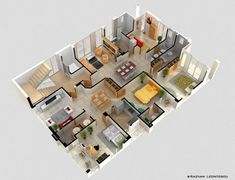 4 Bedroom Apartment/House Plans | Bedroom Apartment, Apartments And Bedrooms
