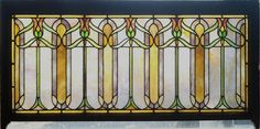 Antique American Arts & Crafts Stained Glass Transom (between apothecary & sanctuary) Antique Stained Glass Windows, Stained Glass Door, Stained Glass Projects, Stained Glass Patterns, Leaded Glass, Mosaic Glass, Uses Of Glass, Art And Craft Design, Arts And Crafts Movement