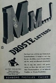 Droste, advertentie 1938