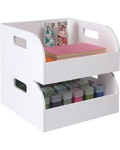 Jetmax Simply Built Craft Storage: 2 Pack Stackable Bins from Go-Organize | BHG.com Shop