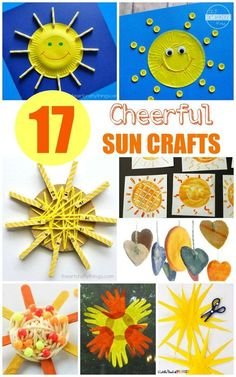 17 Sun Crafts - so many super cute, creative, and unique sun crafts for kids (toddler, preschool, kindergarten, first grade, 2nd grade, summer solstice, summer crafts for kids) {pacific kid}