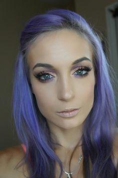 Purple and gold eyes. Makeup by airbrushed by emily. Follow my Instagram: airbrushedbyemily#makeup #makeuplover #makeuptutorial #eyemakeup #smokeyeyes #toofaced