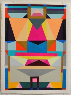 Alexander Kori Girard, System of Space 3 - love the pattern and colours in this painting.