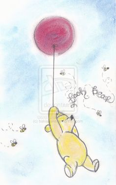 winnie the pooh and balloon by bakiebake on deviantART