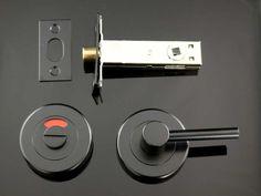 Matte Black | The Lock and Handle Front Door Handles, Black Door Handles, Toilet Door, Black Doors, Matte Black, Bathroom, Washroom, Black Front Doors