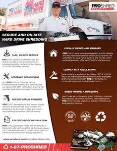 Have #Harddrives or #Electronic #Data that needs #shredding? Here's why #Proshred should be your only option...
