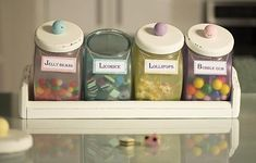 Pastel Old-Fashioned Candy Canister Set -- This flea-market find takes on a sweet new life.