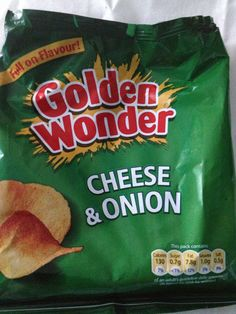 Cheese & Onion crisps (Golden Wonder) my all time favourite crisps