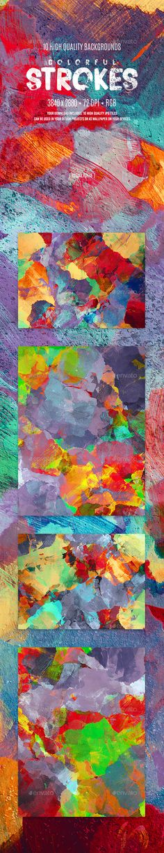 Colorful Strokes Backgrounds — JPG Image #design #strokes • Download ➝ https://graphicriver.net/item/colorful-strokes-backgrounds/19464437?ref=pxcr