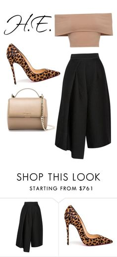 """Untitled #287"" by hollyevans6 ❤ liked on Polyvore featuring TIBI, Christian Louboutin, Givenchy, women's clothing, women, female, woman, misses and juniors"