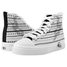 #Black/White Halloween Witch Fun Font Art Pattern High-Top Sneakers - #Halloween happy halloween #festival #party #holiday
