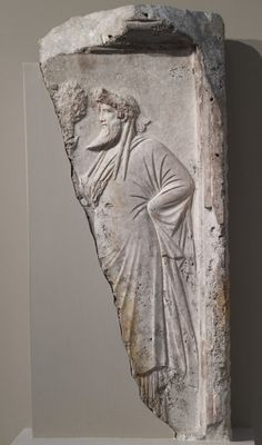 Bacchus (Dionysu) Roman relief marble - circa 2nd c. AD - at the Walters Art Museum, Baltimore