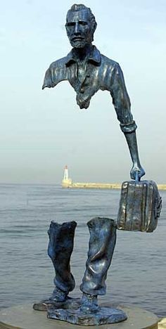 Implied line to the extreme...French Sculptor Bruno Catalano (1960- ) Le Grand Van Gogh