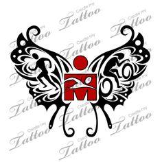 Marketplace Tattoo SBink Ironman Triathlon Butterfly #10276 | CreateMyTattoo.com