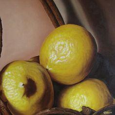 Oleo. Limones. Viviana Larrain