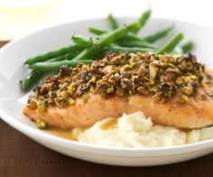 Pistachio Baked Salmon Salmon cooks quickly which means this healthy dinner will be ready in about 30 minutes.