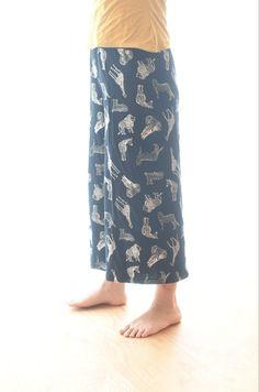 オールシーズンOK☆らくちんワイドパンツ   maffon Fashion Sewing, Sewing Patterns, Pajama Pants, Pajamas, Handmade, Pants, Pjs, Hand Made, Sleep Pants